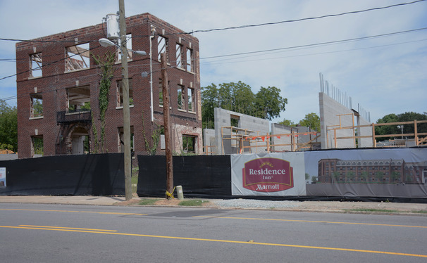 Construction has begun on a Residence Inn by Mariott on the site of the historic McPherson Hospital.