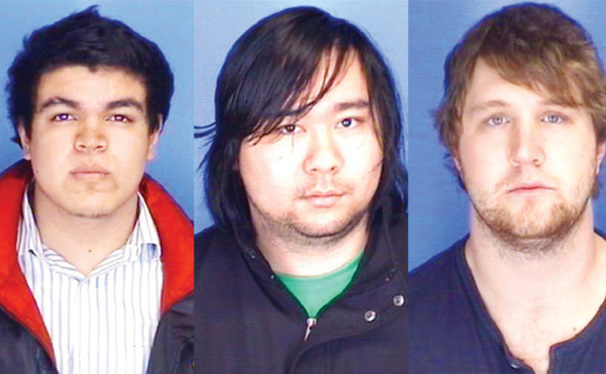 From left to right--Alejandro Peldroza, David Lai, and Kyle Power
