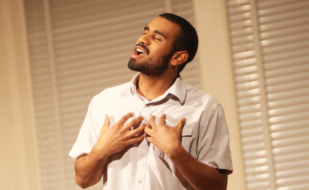 A student performs at the 2013 Me Too Monologues performance, a yearly show featuring anonymously submitted stories about Duke life.
