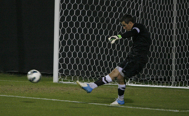 Former goalie James Belshaw was chosen by the Chicago Fire in the MLS Supplemental Draft.