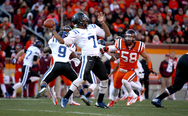 Leading Duke to an upset victory against Virginia Tech, Anthony Boone became the second quarterback in program history to win the first six starts of his career.