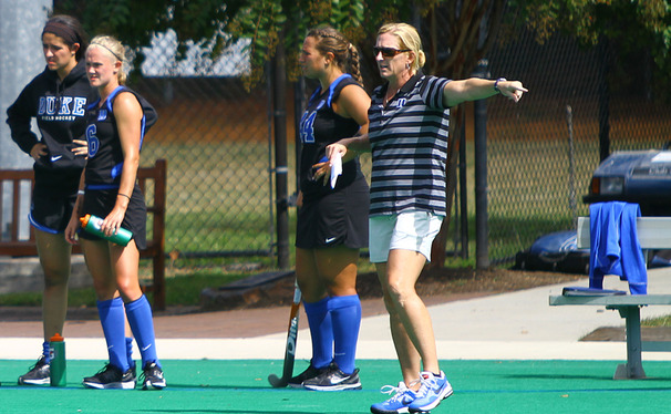 After leading the Blue Devils to the national championship game in 2013, head coach Pam Bustin learned she would be inducted into the USA Field Hockey Hall of Fame.