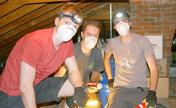 Engineering students work to create energy efficiency in Durham homes, funded by a $25,000 grant from the Piedmont Natural Gas foundation.