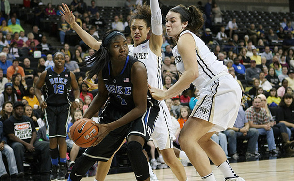 Sophomore center Elizabeth Williams led Duke with 18 points, also grabbing seven rebounds as the Blue Devils remained undefeated.