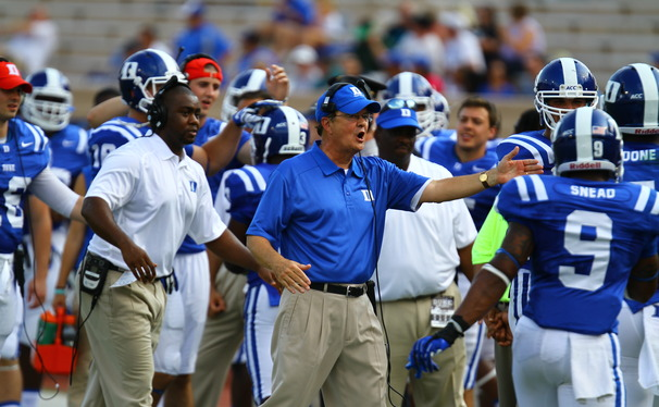 Duke head coach David Cutcliffe was named Bobby Dodd Coach of the Year Monday morning in Atlanta.