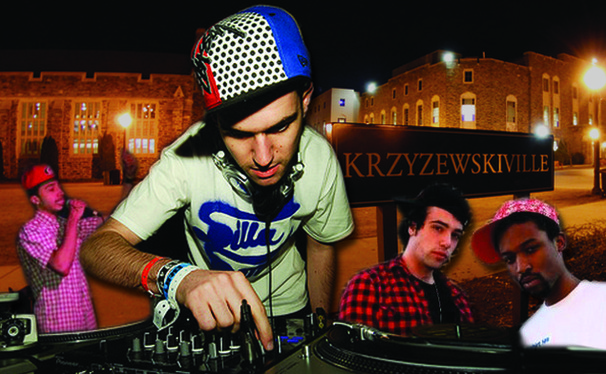 Artists A-Trak (center), Tim Gunter (left) and the Knocks (right) will perform at the personal checks concert in K-Ville Saturday,  Feb. 8.
