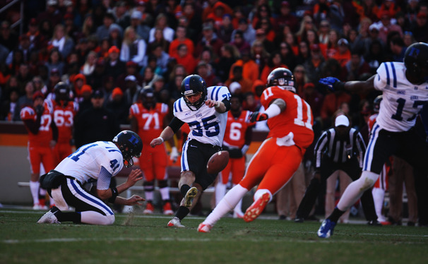 Ross Martin nailed two 50-yard field goals in a win against Virginia Tech and Duke received two votes in the AP top 25.