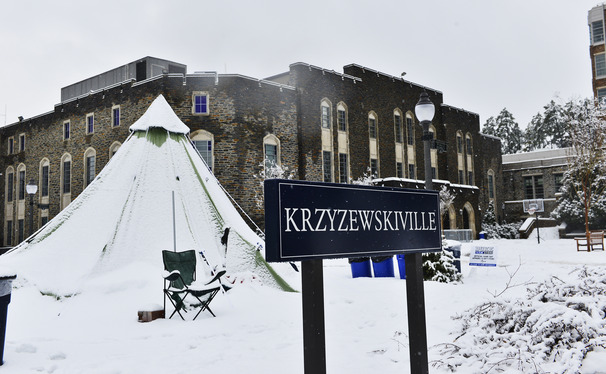 The Blue Devils never considered leaving before Cameron Indoor Stadium and the rest of Durham was coated with six inches of snow.