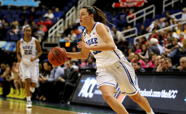 Former Duke forward Haley Peters signed a training camp contract with the WNBA's Washington Mystics after going undrafted.