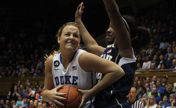 Senior Tricia Liston scored 23 points in Duke's 20-point loss to Notre Dame Sunday.