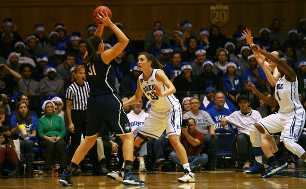 Since suffering a loss to top-ranked Connecticut, the Blue Devil defense has been nothing but stingy, allowing a mere 55 points per contest during the team's current five-game winning streak.