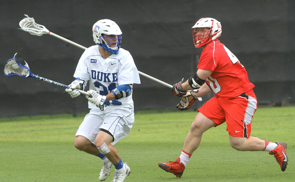 Syracuse held senior Jordan Wolf to one goal as the Blue Devils fell in the waning second to the Orange in ACC Championship semifinals.