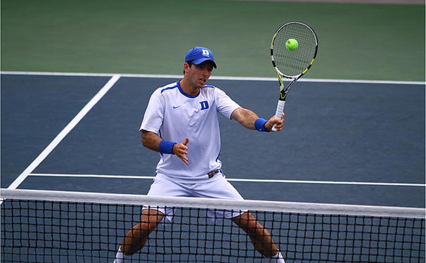 Henrique Cunha recorded a 6-0, 6-0 victory in Duke's first round sweep of Coastal Carolina.