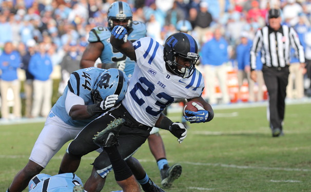 Juwan Thompson has made impacts in all three phases of the game for the Blue Devils during his senior season.