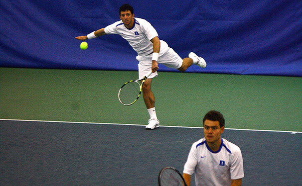 Henrique Cunha, Duke's top player, has yet to drop a singles or doubles match this season.