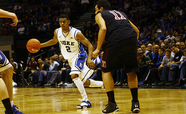 Hitting 3-of-4 3-pointers, Quinn Cook was part of Duke's barrage from deep. The Blue Devils hit 12-of-20 3-pointers overall.