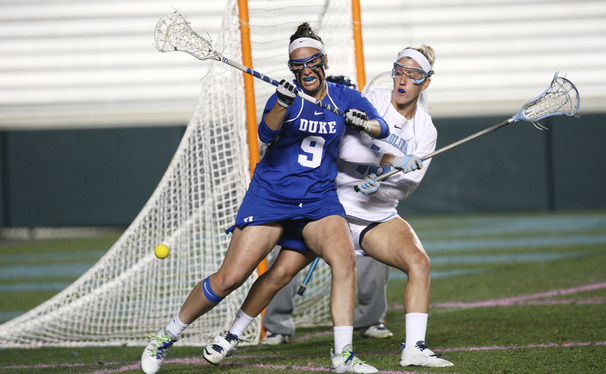 Kerrin Maurer led the way for Duke, tallying four goals in the Blue Devils' 13-8 victory against Stanford in the opening round of the NCAA Championship.