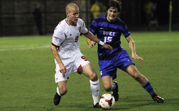 Sophomore Zach Mathers' move from midfield to center back has sparked the Blue Devil defense, as the team has allowed just one goal in four games.