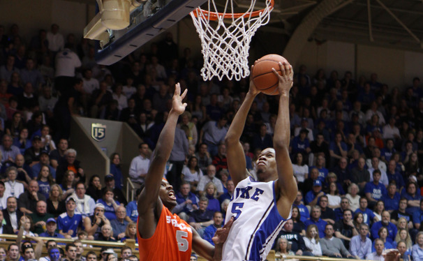 Redshirt sophomore Rodney Hood was involved in controversial calls at the end of each of two Duke-Syracuse matchups this season.