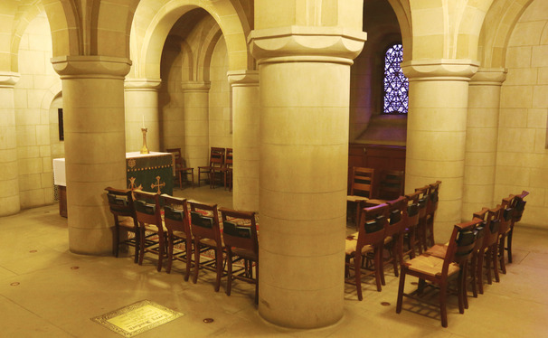 The Chapel crypt has gained various functions over the year.