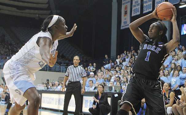 Elizabeth Williams will face a tough battle against Maryland's top-notch rebounders.