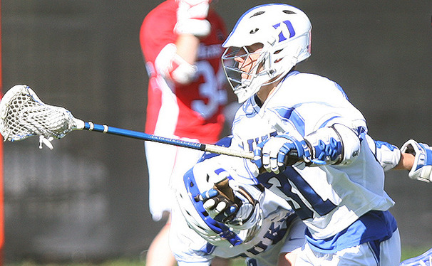Sophomore Jordan Wolf led the Duke offense with six points in the team's 13-5 upset of the No. 1 Cavaliers.