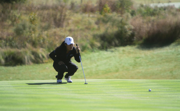 After making the cut at the British Open this summer, sophomore Celine Boutier leads Duke into the Mason Rudolph Women's Championship.