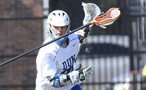 The first of Jordan Wolf's two goals gave Duke an early lead, but Penn stormed back in the second half to upset the Blue Devils.