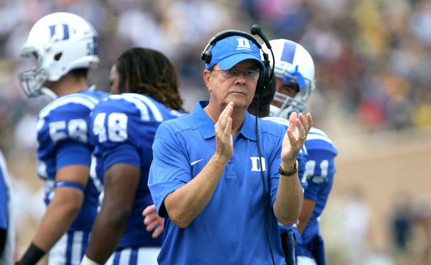 Just like Duke head basketball coach Mike Krzyzewski, the Blue Devils' David Cutcliffe has brought his team to national prominence in its sixth season.