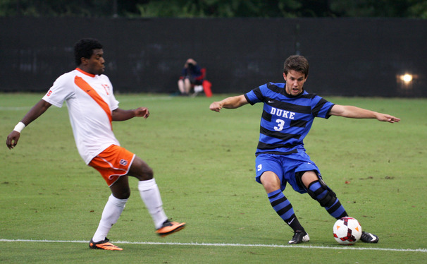 Junior Jack Coleman netted Duke's only goal in a loss to Notre Dame.