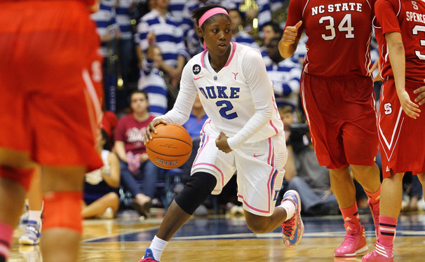 Sophomore point guard Alexis Jones will undergo an MRI Monday after spraining her knee in Duke's loss to Notre Dame.