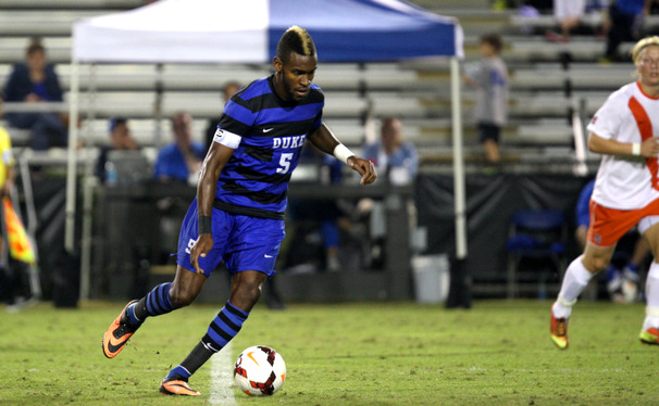 Duke defender Sebastien Ibeagha sealed the Blue Devil's come-from-behind victory with a goal in the 80th minute.