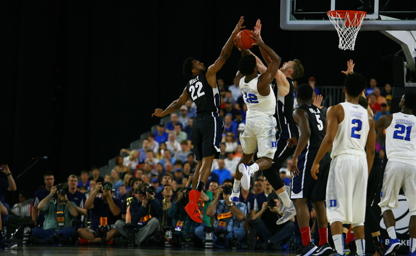 Swingman Justise Winslow came up big in his hometown to get Duke back to Indianapolis and the Final Four.