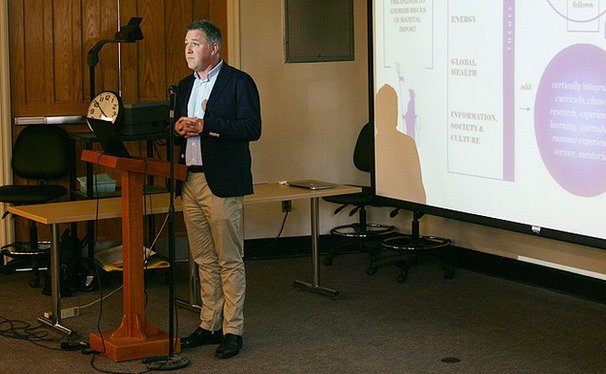 Philosophy professor Andrew Janiak presented IDEAS, an interdisciplinary program, at Thursday's Arts and Sciences Council meeting.