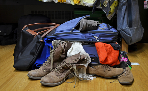 Some students keep their bags unpacked while others return home for the holidays.
