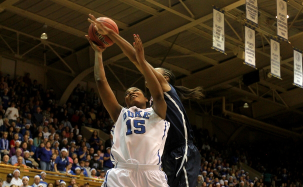 Connecticut controlled the paint and seized momentum away from Duke in an 83-61 win at Cameron Indoor Stadium.