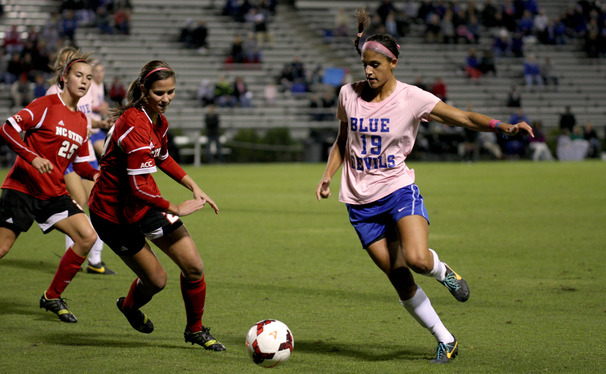 Kim DeCesare provided the lone goal for Duke, which improved its ACC tournament chances with a 1-0 win against N.C. State.