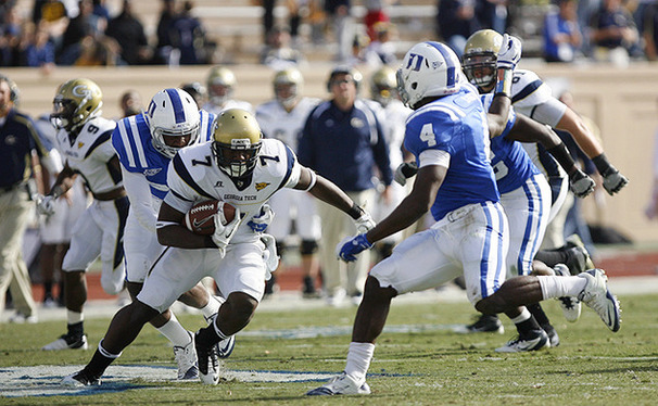 Georgia Tech and its triple-option offense rank fourth in the nation with 324.4 rushing yards per game.