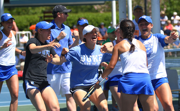 Hanna Mar's comeback win punched Duke's  ticket to the ACC tournament final, and polished off the Blue Devils' third win of the season against North Carolina.