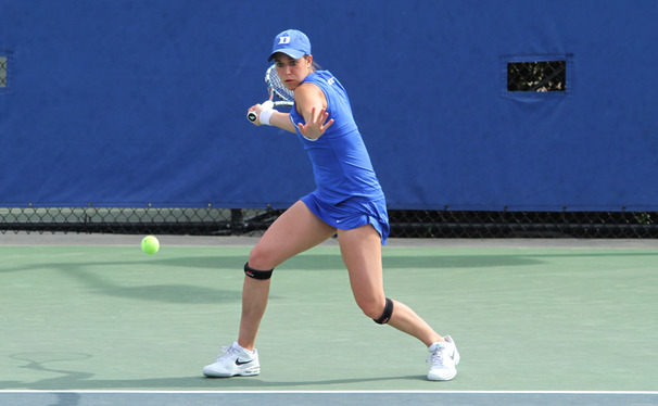 Beatrice Capra led the Blue Devils Thursday, as they dominated Wake Forest in the opening round of the ACC Championship.