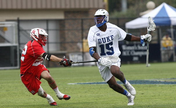 Myles Jones led the Blue Devils Sunday as he used his size and strength to overpower smaller Air Force defenders.