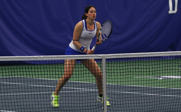 Rachel Kahan took the court for the first time since tearing her rotator cuff and missing the entirety of the 2013 season.