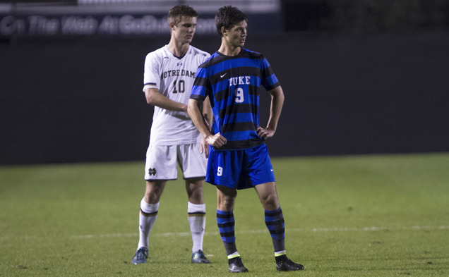 Sophomore Brody Huitema's third goal of the season was not enough to stop the Blue Devils' recent skid, as Duke fell to Elon 2-1 Tuesday night.