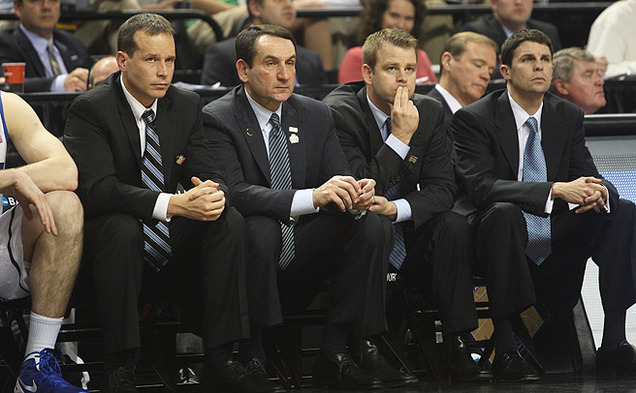 There was nothing to smile about on the Duke bench during last year's upset to the 15th-seeded Mountain Hawks.