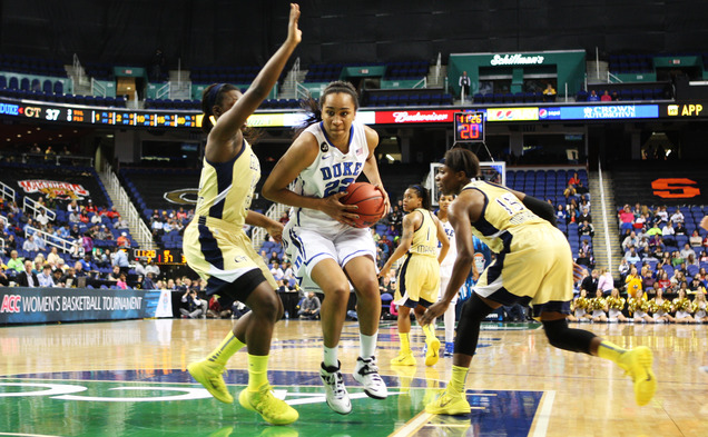 Freshman Oderah Chidom scored eight points and grabbed 13 rebounds in Duke's ACC quarterfinal victory against Georgia Tech.