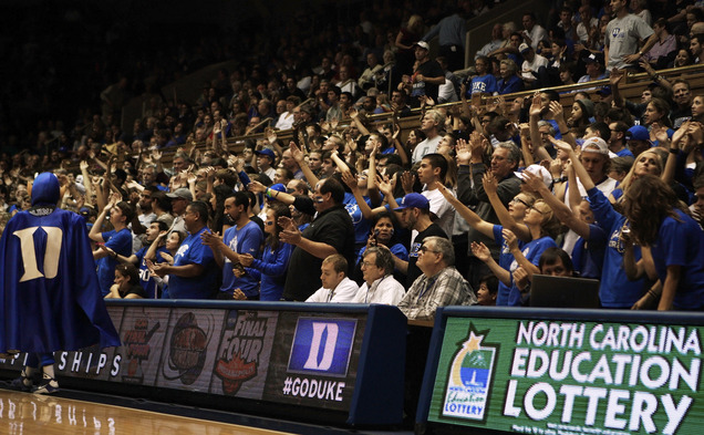 Parents weekend allows Duke parents to join in with the Cameron Crazies.