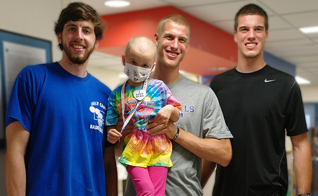 Over the summer, Duke basketball player Ryan Kelly, a senior, worked with the Monday Life, a nonprofit that raises money for children with cancer.