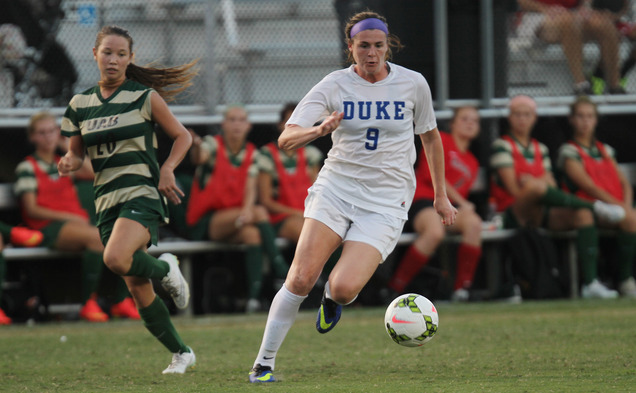 Senior Kelly Cobb scored one of three first-half goals to help pace the Blue Devils against UAB in Duke's home opener.