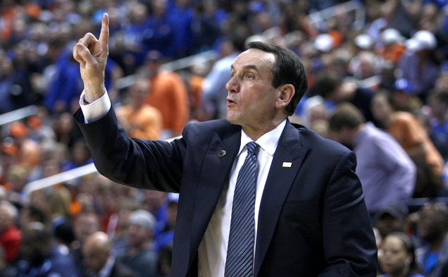 Head coach Mike Krzyzewski said he intends to remain at Duke at least through the 2018-19 season.