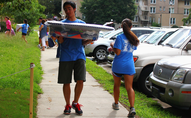 Teams of First-Year Advisory Counselors provide guidance and support to the newest residents of the Duke campus.